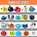 Free Shipping 20 pcs lot Lovely Cartoon Animal Bird Tennis Racket Vibration Dampener