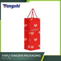 Custom manufacture valentines day paper wine bag