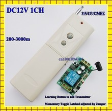 3000M 12V10A 1CH switch/toggle Learning code RF Wireless