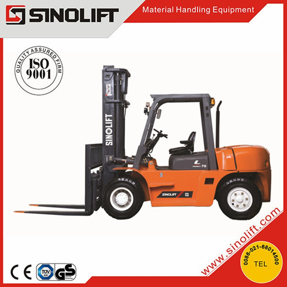 2015 SINOLIFT L Series 5T 6T 7T Diesel Four Wheel Drive Forklifts Truck with Good Price