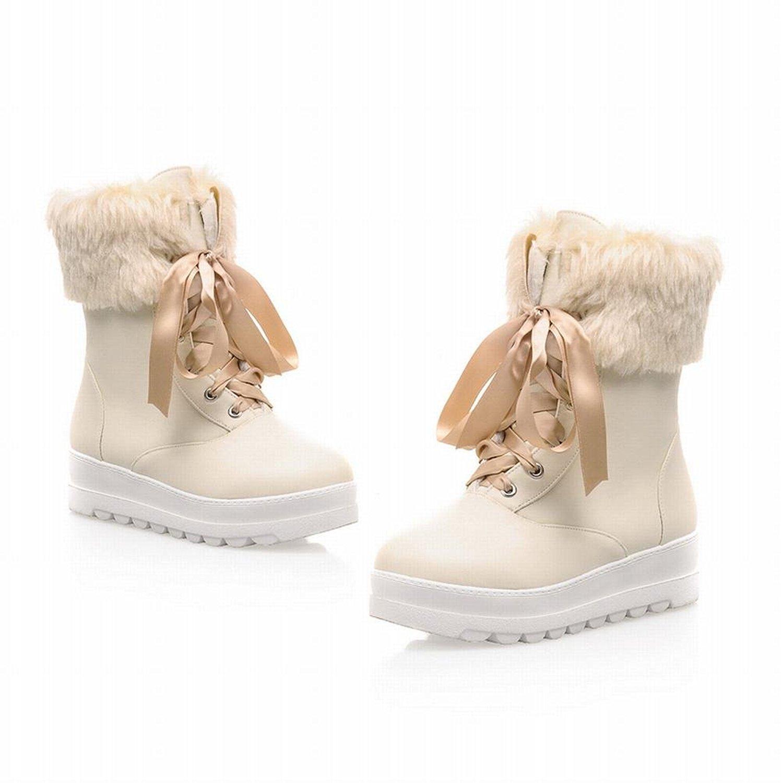 5c003f56685 Buy Carol Shoes Cute Womens Lace-up Faux Fur Lolita Style Sweet ...