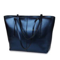 Bling leather shopping bag Daily office bags overnight handbag