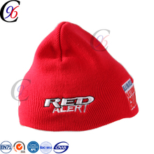 Chengxing beanie printed hat winter outdoor spandex jacquard printed knitted custom embroidery 100% acrylic beanie cc beanie hat