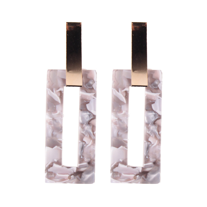 11238 Dvacaman 2018 wholesale rectangle fancy acrylic drop <strong>earrings</strong> for women