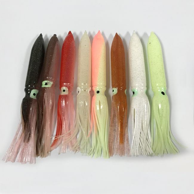 Colorful octops squid soft skirts fishing lure