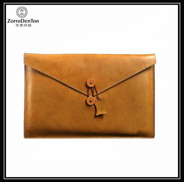 Envelope Genuine Leather Sleeve Laptop Protective Cover Tablet Bag Shockproof Waterproof For Air MacBook Pro