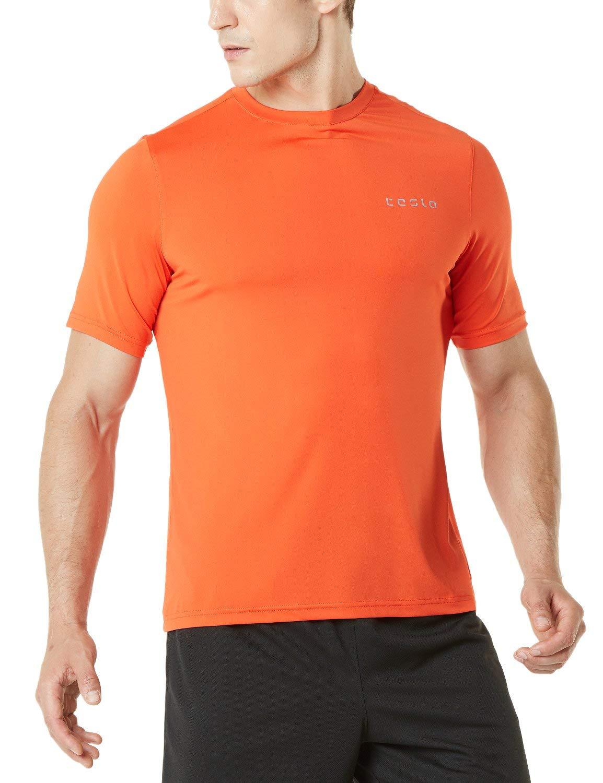Tesla Men's HyperDri Short Sleeve T-Shirt Athletic Cool Running Top MTS04/MTS03