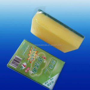 Household magic cleaning scouring pad polyester microfiber foam sponge