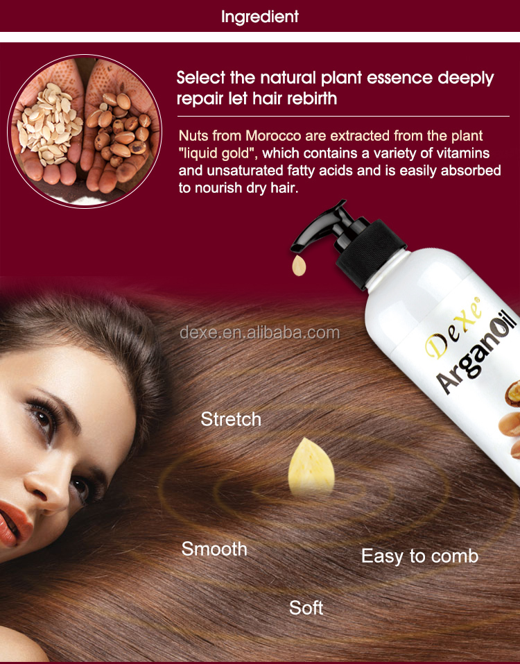 Cosmetic natural hair care moroccan argan oil conditioner for hair loss treatment