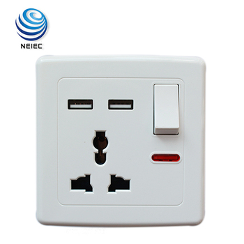 Universal multi plug socket wall light switch with neon buy wall universal multi plug socket wall light switch with neon aloadofball Choice Image