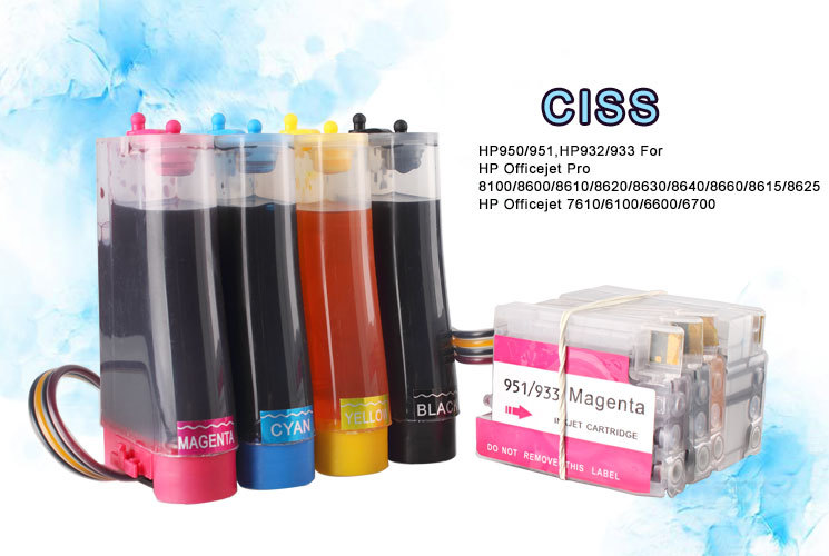 Refillable Ink Cartridge for HP950/951 ciss