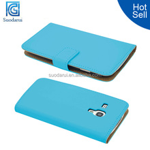 Hot Sale Slim Wallet Leather case for Samsung Galaxy S3 Mini i8190 cover
