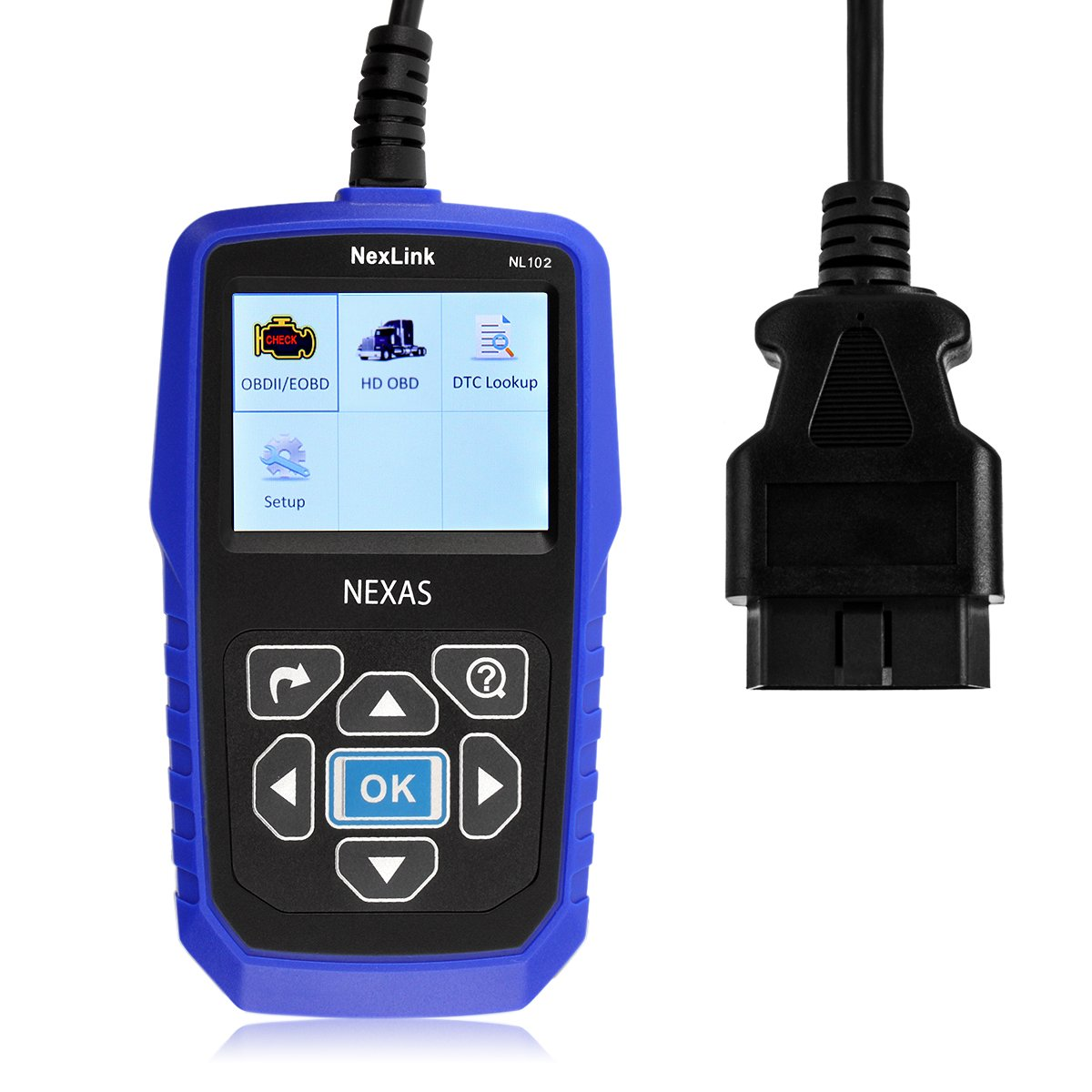 Get Quotations · NEXAS Heavy Duty Truck Scanner NL102 OBD/EOBD+HDOBD Diagnostic  Scanner Scan Tools Engine
