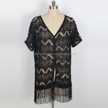 вязание крючком пляжная одежда сексуальный прохладный бахрома 3 вида