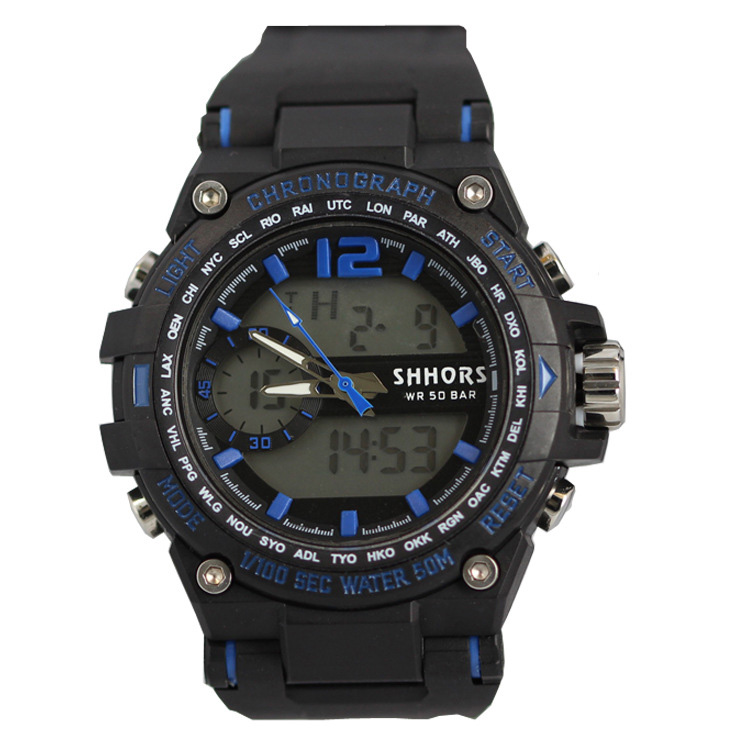 Fashion leisure multi-functional waterproof outdoor sports watches student electronic watch