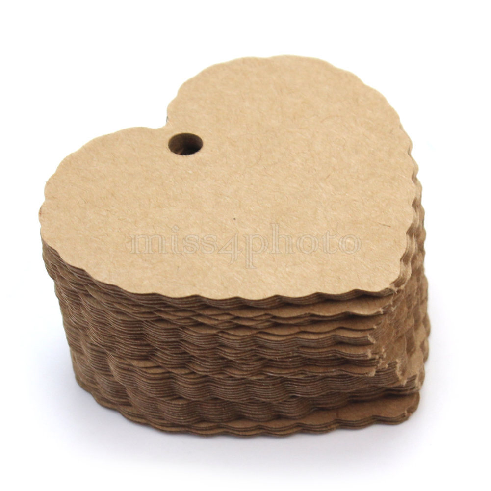 cheap paper tags paper tags deals on line at alibaba com get quotations middot 50pcs 5 9x5 4cm blank heart kraft paper hang tags wedding party favor label