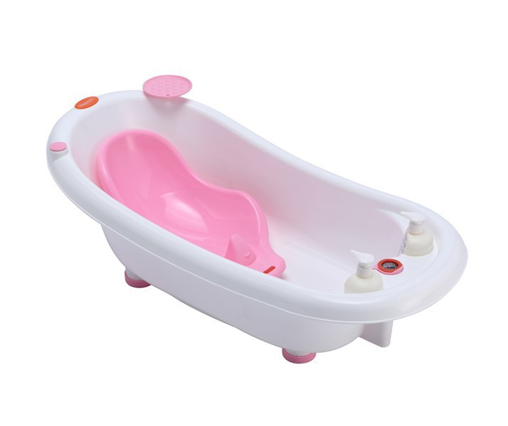 China PP Plastic baby bath with support
