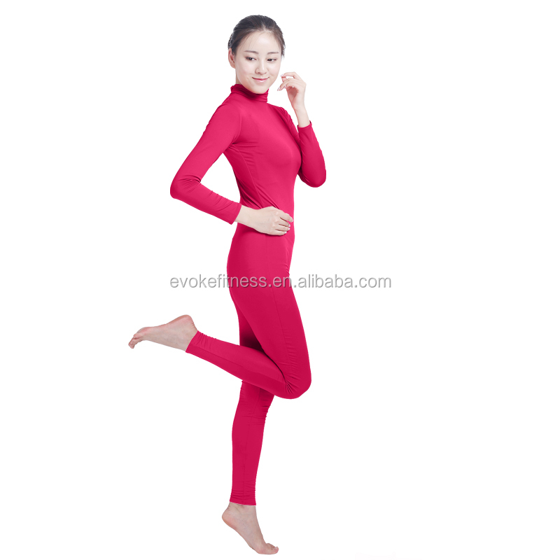 Rose Red Boat Neck Adult Full Body Without Hand/Feet Ballet Unitard/Dance Costume/ Gymnastics Leotard/Cosplay Wear