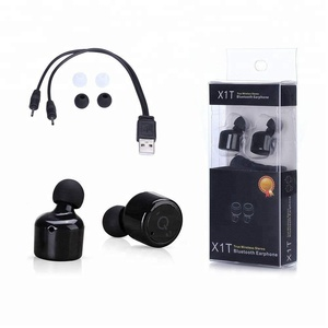 Truly Wireless Earbuds,TeckEpic X1T Bluetooth 4.2 Headphones Mini Headsets Noise-Cancelling Invisible Twins Stereo Earphones