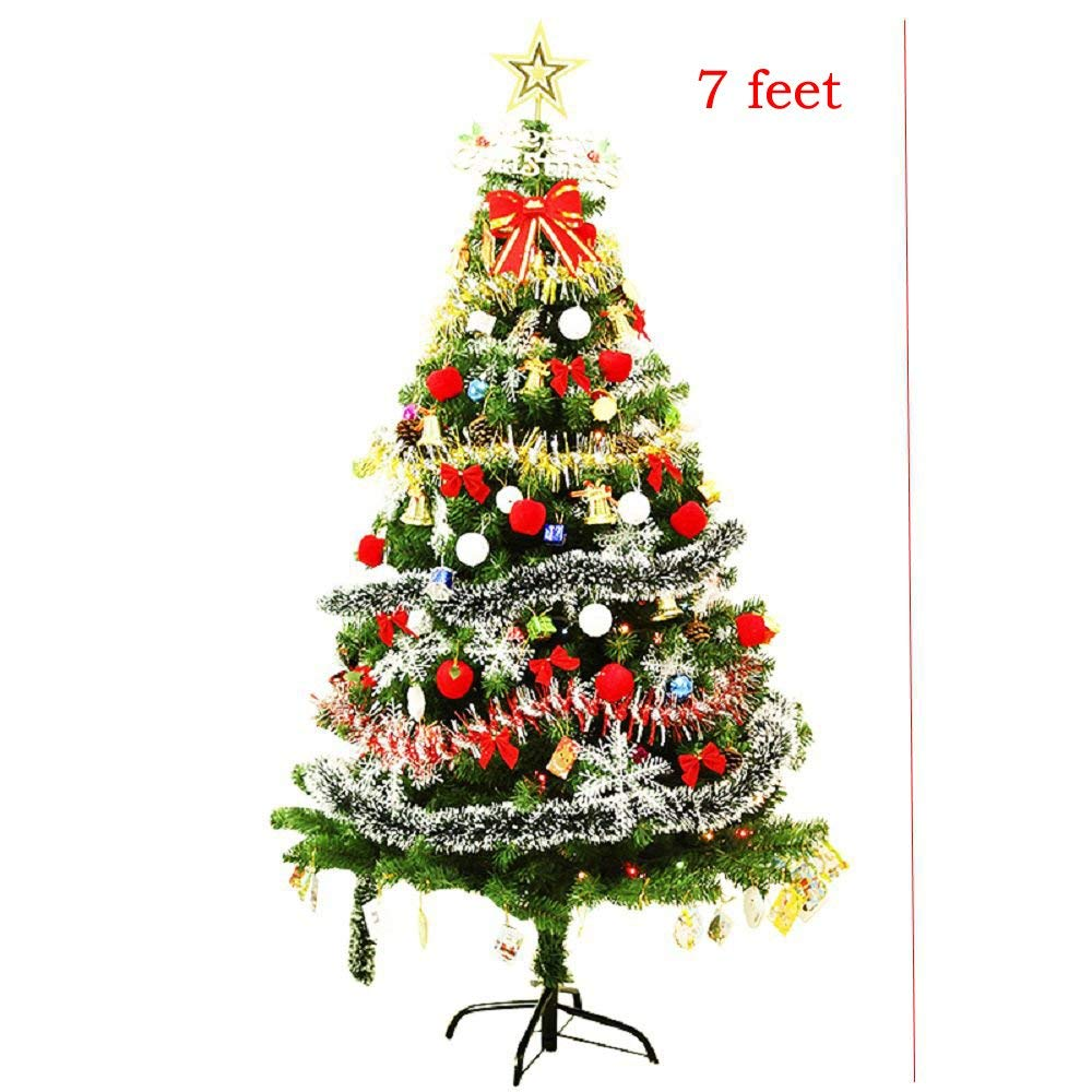 get quotations pre lit decorated christmas tree 6 ft7 ft8