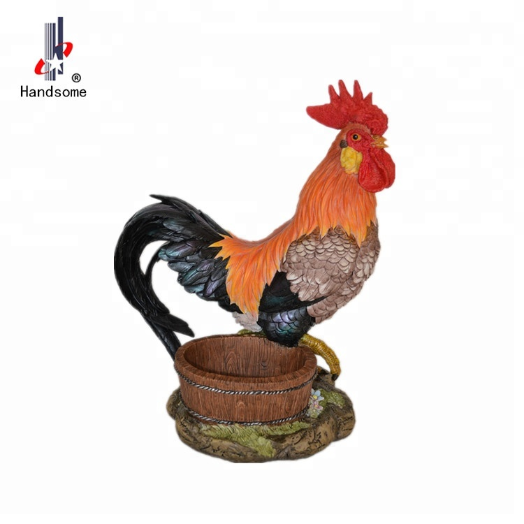 Resin Craft Animal Sculpture Rooster Figurine