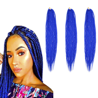 Most Hot Goods 22inch 110g Artificial Afro Yaki Beauty Spring Crochet Box Braided Synthetic Hair