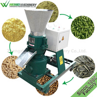 Flat die 60-80 kilograms animal poultry dog rabbit food feed pellet making machine