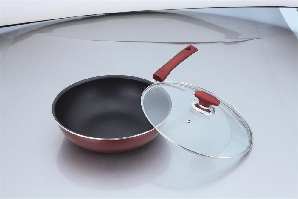 Red good quality aluminum wok cooker king cooker