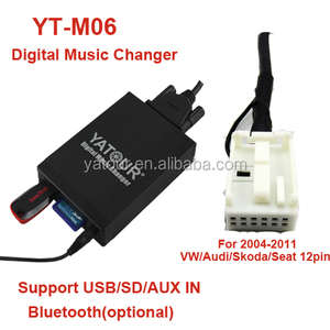 Digital music changer YT-M06 Yatour USB AUX SD Bluetooth interface adapter  kit