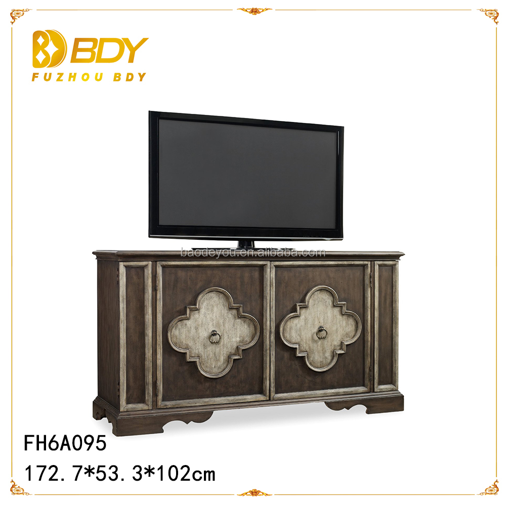 Wooden Decorative Tv Stand With Doors Buy Small White Antique