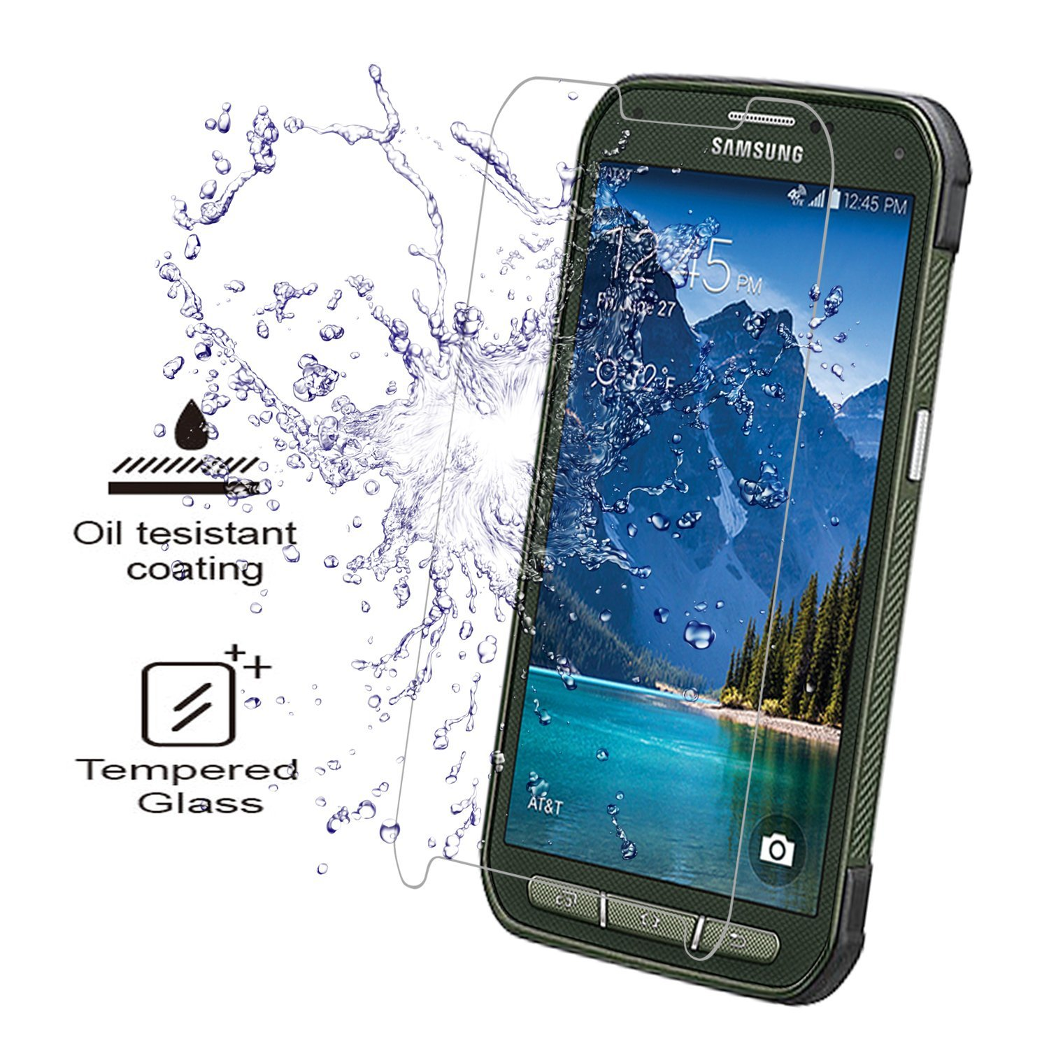 Hot selling privacy pakket gehard glas screen protector voor Samsung Galaxy S5