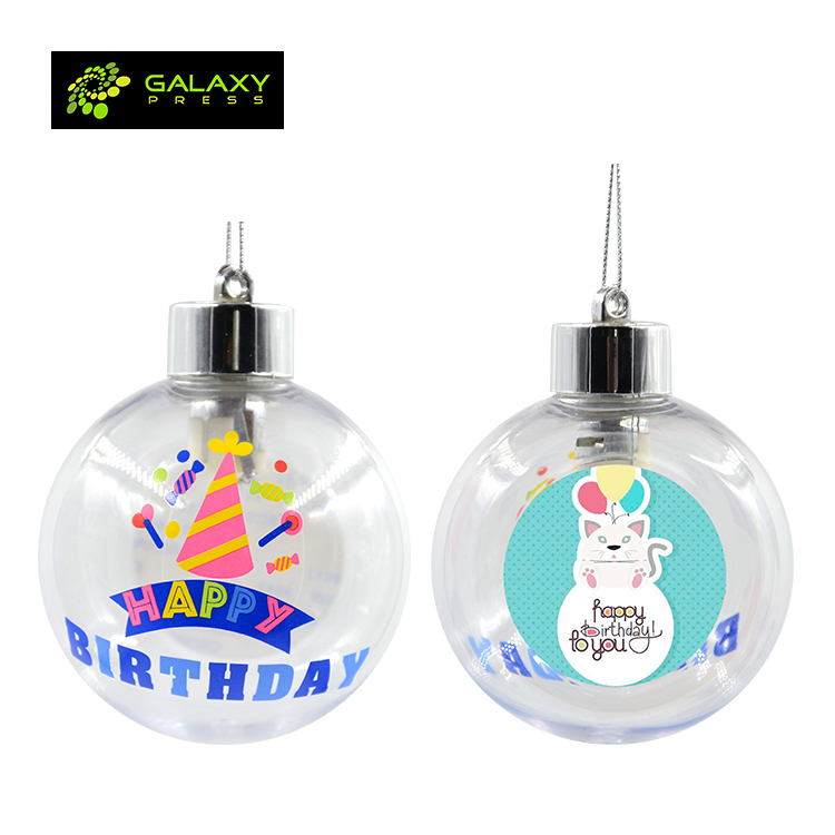 Blank sublimation Xmas ball for heat transfer photo printing