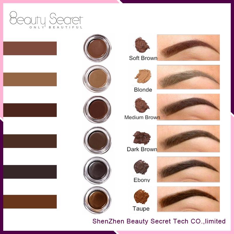 No Logo Makeup Eyebrow 7 Colors Eyebrow Gel Waterproof Brow Pomade