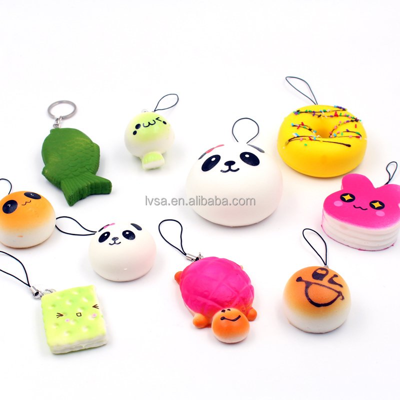 Various Animal Cartoons Pendant Decorations Squishy Slow Rebound Toys