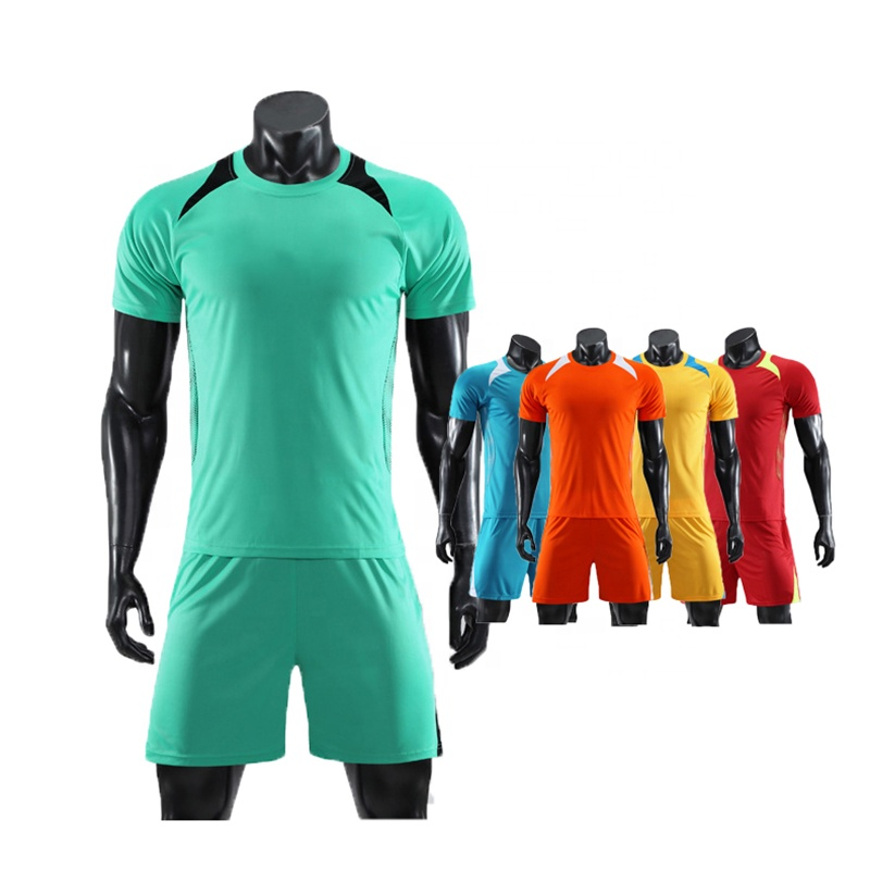 2019 Wholesale cheap high quality custom blank sport football uniforms set green soccer jersey фото