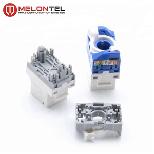 MT-5108 Toolless RJ45 modular cat6 6a 5e jack module modular with turning plastic handle