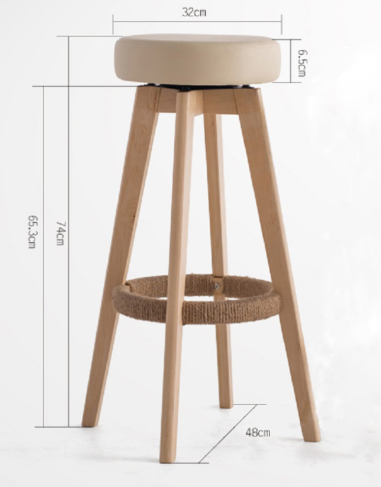 Hot Swivel Wooden Bar Stool With Round Seat Am 078 Product On Alibaba