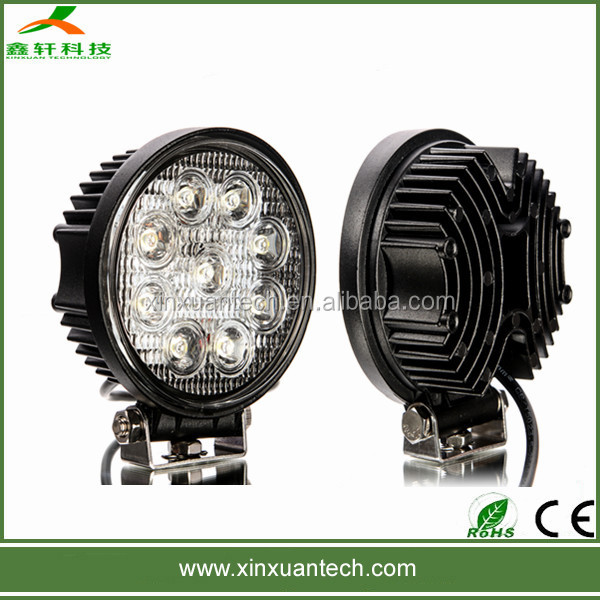 IP67 waterproof new 27w car led tuning light/led work light