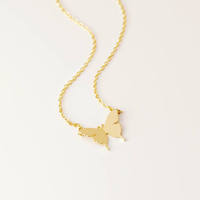 Inspire jewelry new fashion Butterfly Necklace Anima layered Choker Necklace for Christmas Gift