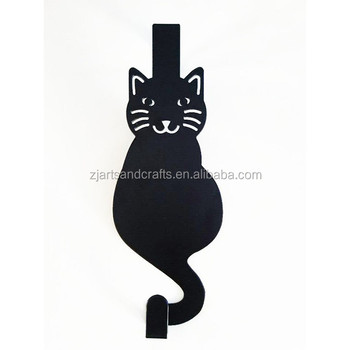 Metal Cat Hanger Decorative Over the Door Hook Hanger