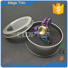 guangzhou wholesale Stress Release Pressure metal colorful fidget finger toys rainbow spinners finger gyro hand spinner