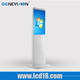 white shell 21.5 inch LCD floor stand advertising display Windows system shopping mall advertising touch screen kiosk