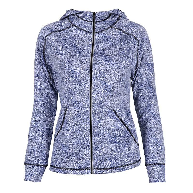Winter New Windproof Hooded Zipper Women Sports Jacket,Fitness Quick Drying Training Exercise Yoga Running Coat