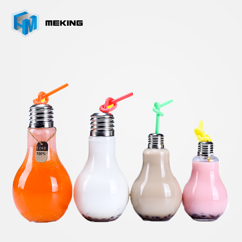 Meking Summer Bulb Water Bottle 200ml 300ml 400ml 500ml Cute Milk Juice Cups