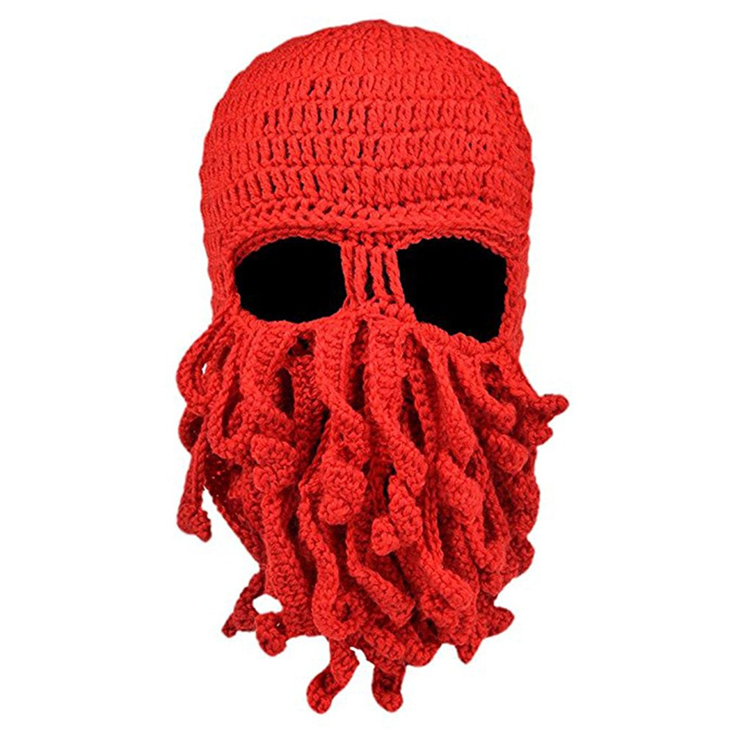 3ca42d36d92ec Get Quotations · Winter Warm Octopus Hat Windproof Beard hat Funny Knit Cap  Ski Mask for Men and Women