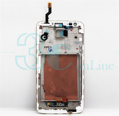 White Black Original for LG G2 D800 D801 D803 LCD Display Touch Screen Panel Digitizer Frame Assembly Replacement Repair Parts