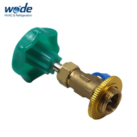 Refrigerant bottle r134a can tap valve