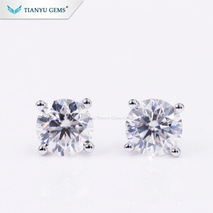 Fashion earring designs new moissanite diamond earrings 18K white gold earring
