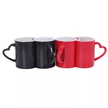Wholesale price 11oz couple color changing mugs/magic color changing mugs