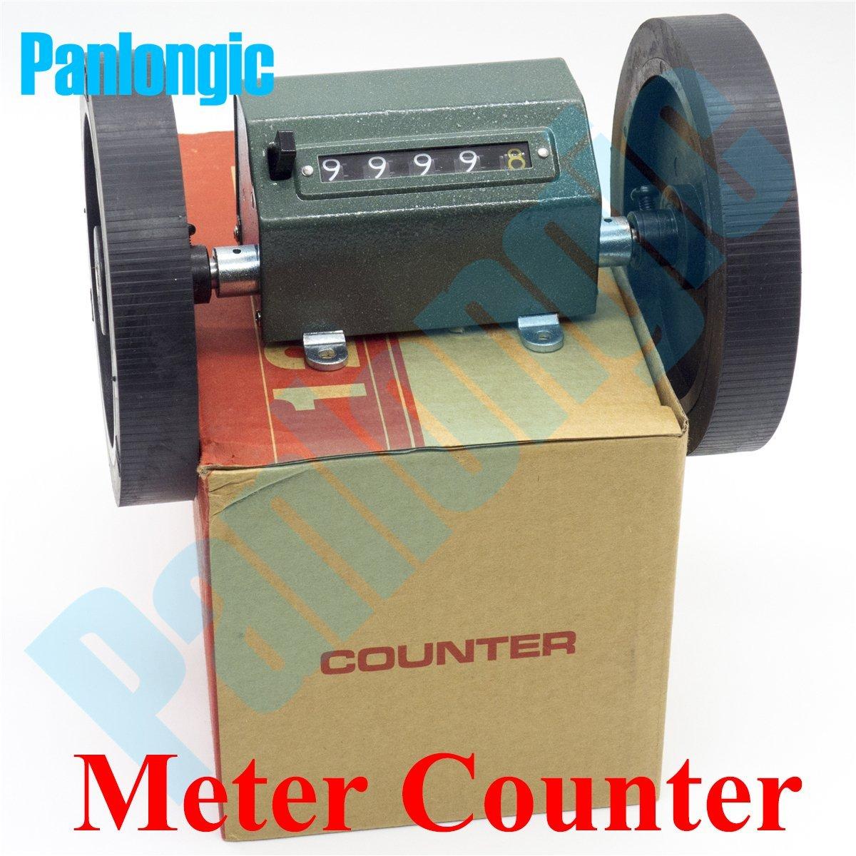Panlongic Rolling Wheel Meter/Yard Counter Length Measure Textile Mechanic Counter Decoder (Meter Counter)